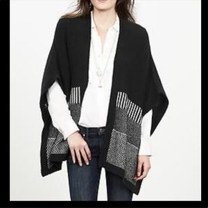 NWT Banana Republic Birdseye Poncho Sweater XS/S